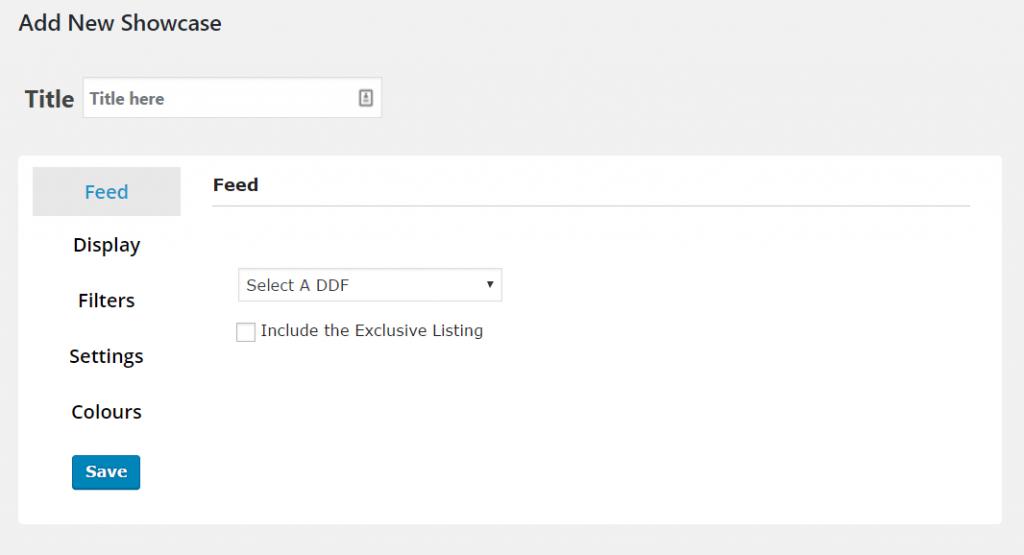 Add a new showcase feed settings