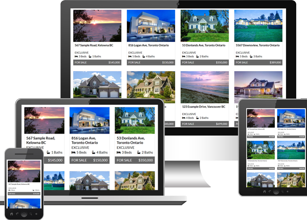 ARETK CREA wordpress listing showcases on digital devices