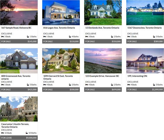 ARETK plugin, grid view showcase with 4 columns